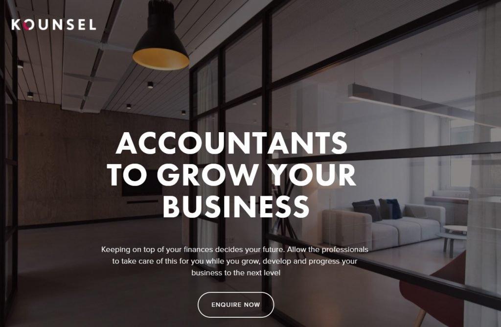 Kounsel accountancy home page